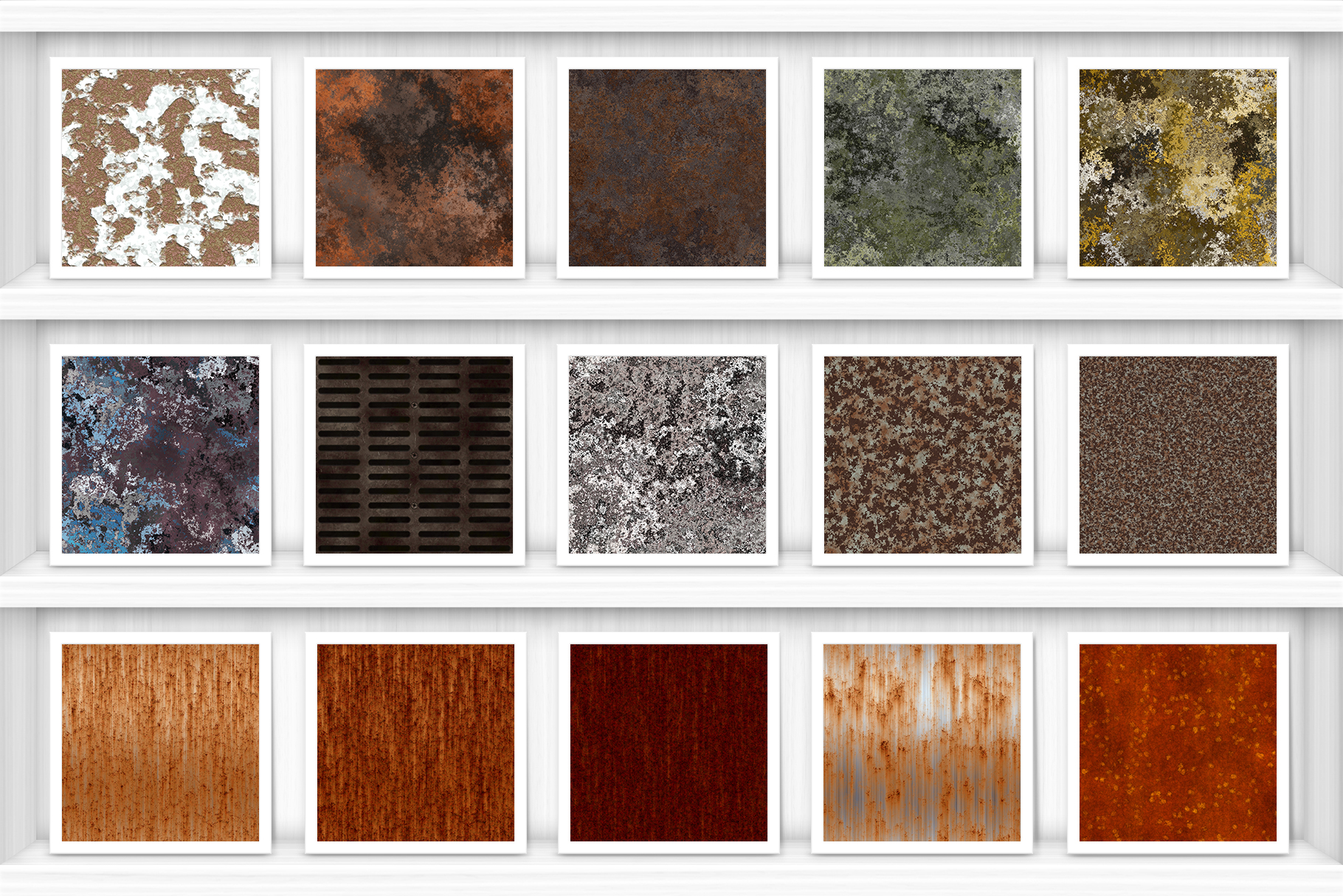50 Rust Background Textures Preview Set 1