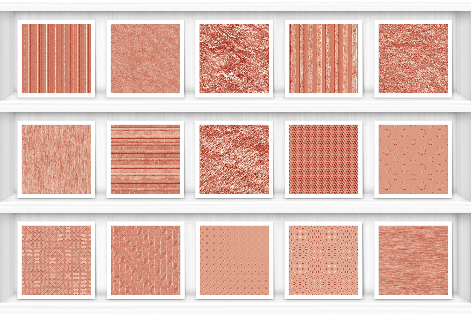 30 Copper Background Textures Samples Shelves Showcase Preview Set 2