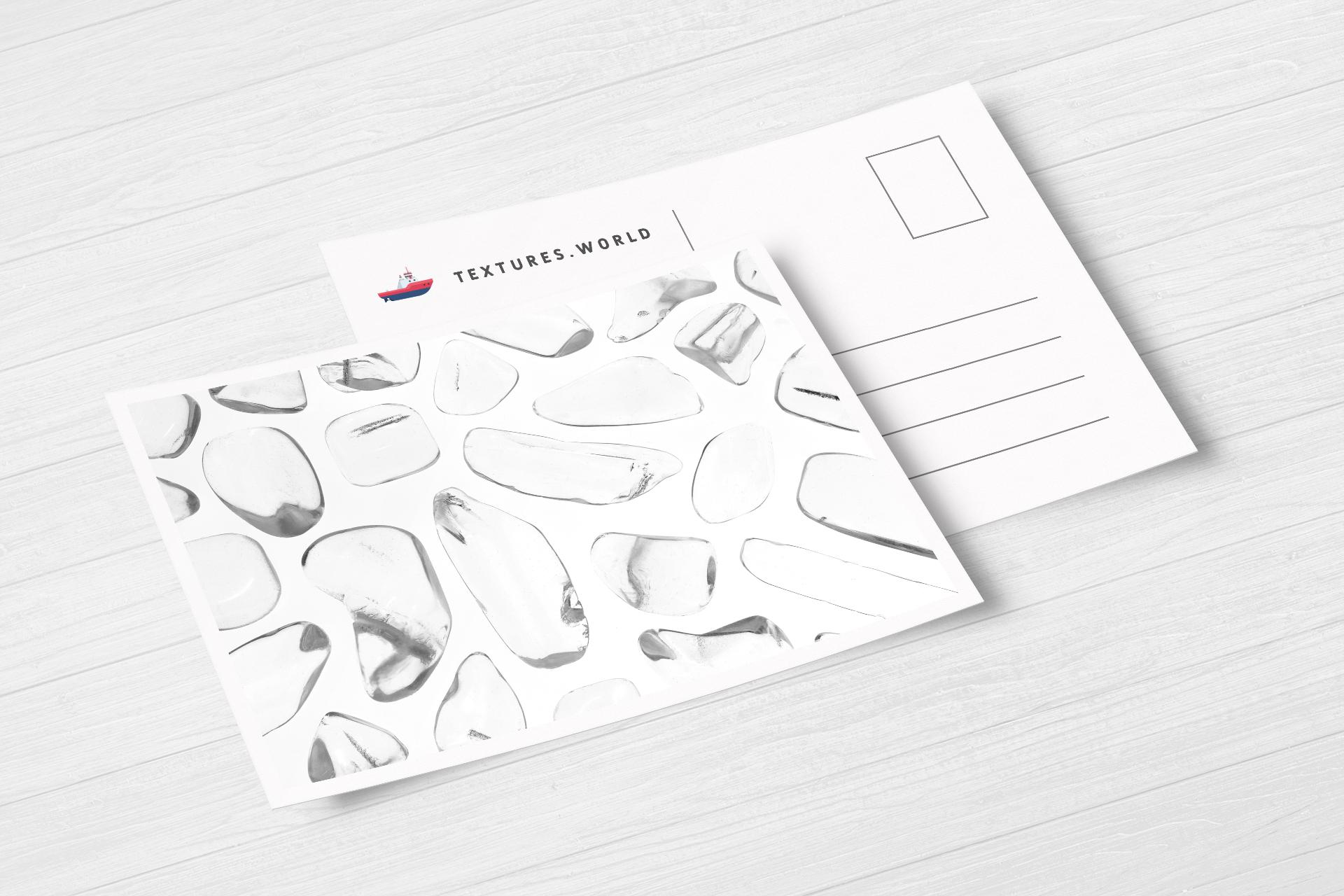 Postcard Clear Quartz Background Textures Modern Poster Preview