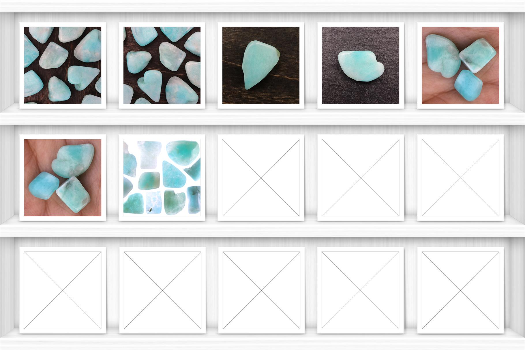 Amazonite Background Textures Showcase Shelfs