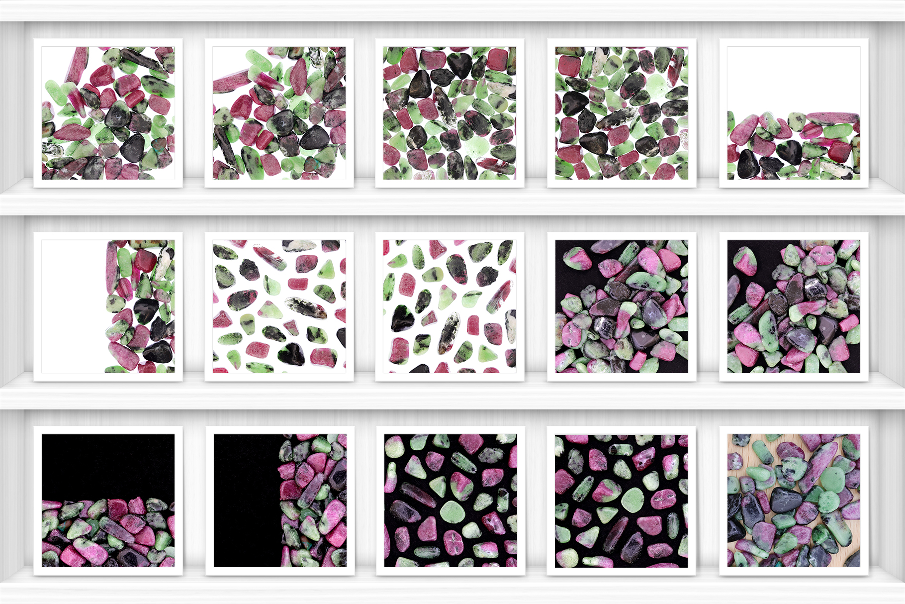 Ruby Zoisite Background Textures Showcase Shelves Samples Preview