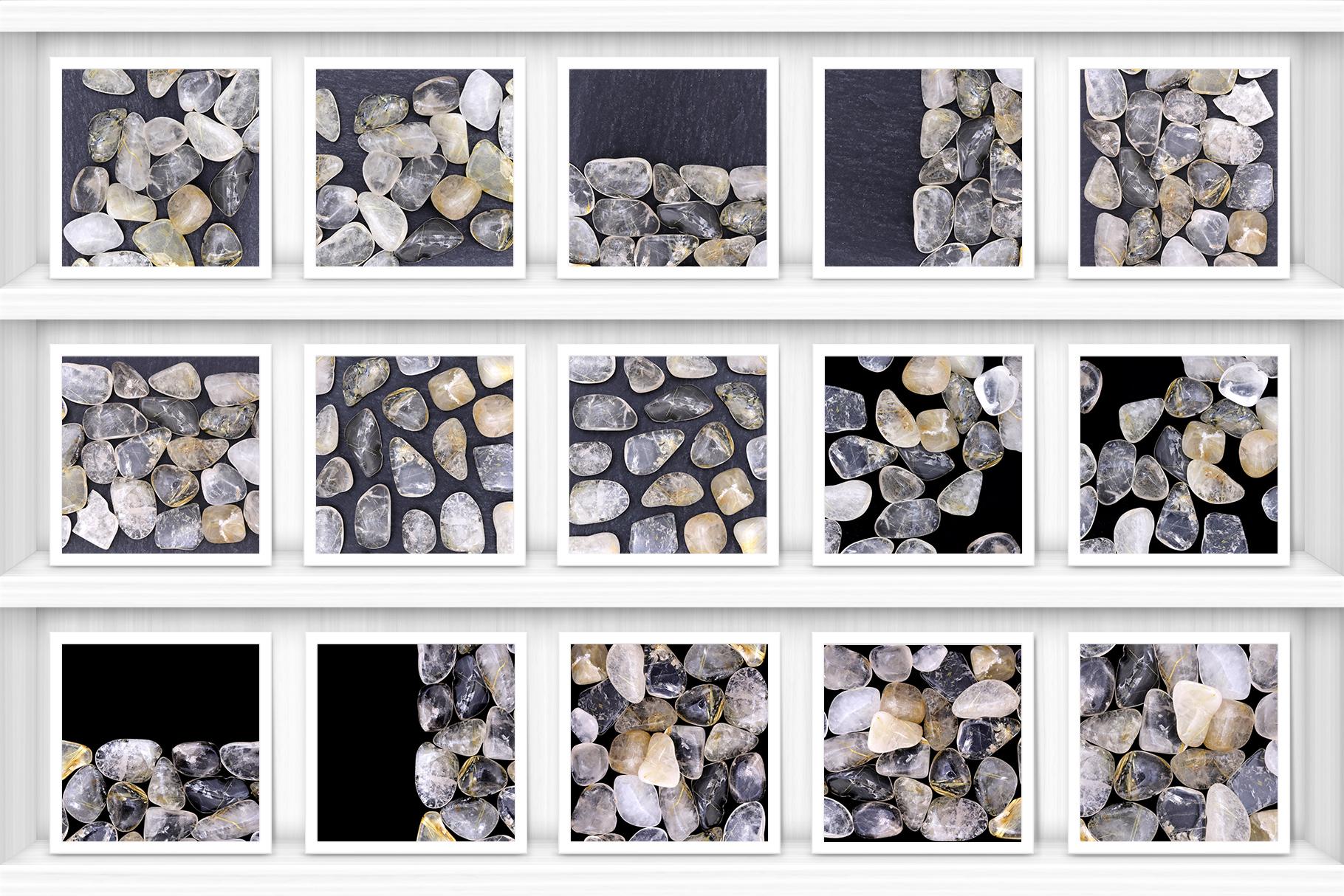 Rutilated Quartz Background Textures Showcase Shelves Samples Preview