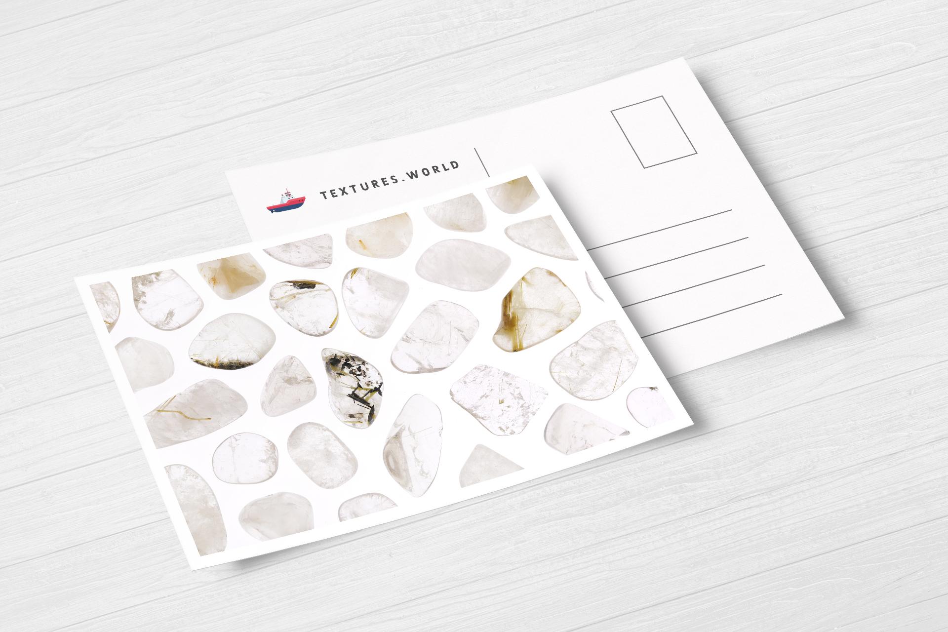 Postcard Rutilated Quartz Background Textures Modern Poster Preview