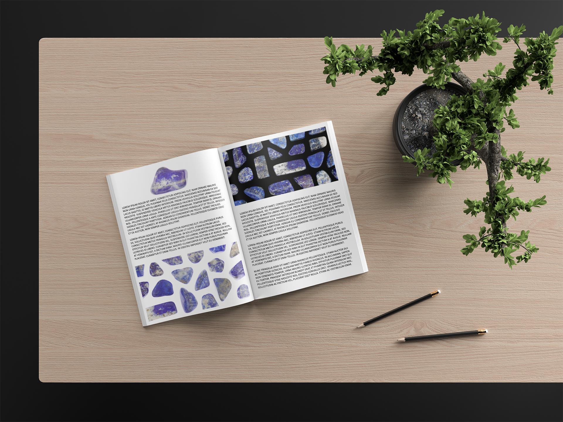 Lapis Lazuli Background Textures Modern Magazine Article Illustrations Preview